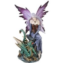 Älva med drake, dekoration