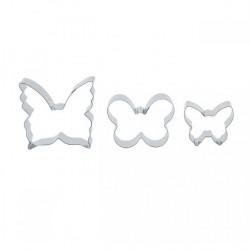 Fjärilar, 3 st utstickare