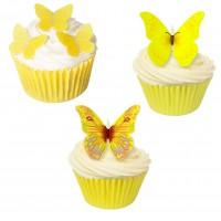 66 st ätbara gula fjärilar (20151101)