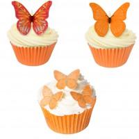 66 st ätbara orange fjärilar (20151101)