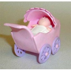 Barnvagn, rosa