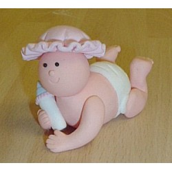 Baby, rosa hatt