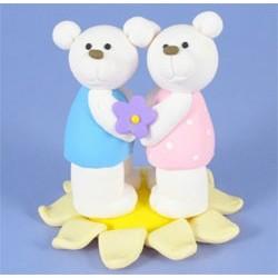 Björnar på blomma