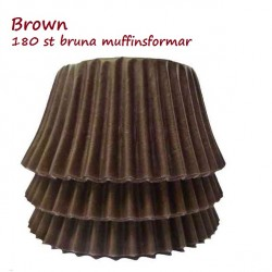 Chocolate Brown, 180 st muffinsformar
