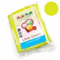 Sugarpaste m vaniljsmak, lime green 250g (Fun Cakes)