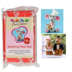Modelling Paste, red 250g (FunCakes)