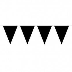 Vimpel, 10 m (svart)