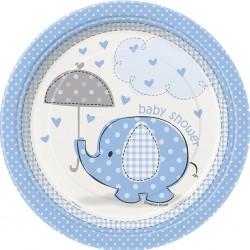 Umbrellaphant - Blue, 8 st tallrikar