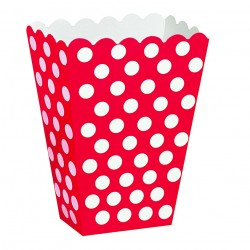 Dotty Red, 8 st snacksboxar