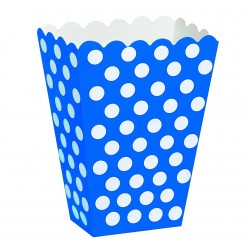 Dotty Dark Blue, 8 st snacksboxar