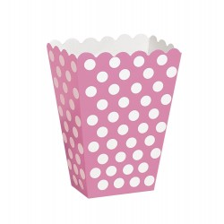 Dotty Dark Pink, 8 st snacksboxar