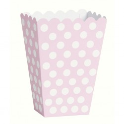 Dotty Light Pink, 8 st snacksboxar