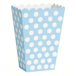 Dotty Light Blue, 8 st snacksboxar