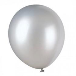 Ballonger, 8 st silverfärgade