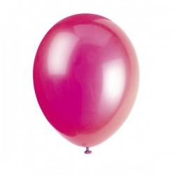 Ballonger, 8 st mörkrosa (Misty Rose)