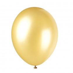 Ballonger, 8 st guldfärgade