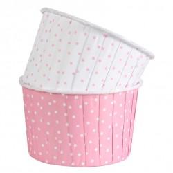 Dotty, rosa och vita muffinskoppar