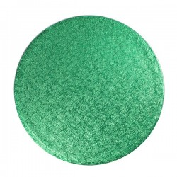 Grön, rund tårtbricka (ca 25 cm)