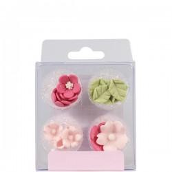 Blommor, ätbara dekorationer (pink)