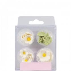 Blommor, ätbara dekorationer (white)