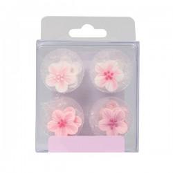 Pink Flower, ätbara kristyrblommor