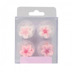 Pink Flower, 12 st ätbara kristyrblommor