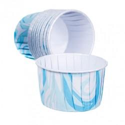 Blå - Marmorerad, 24 st muffinskoppar