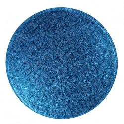 Rund tårtbricka, blå 25 cm