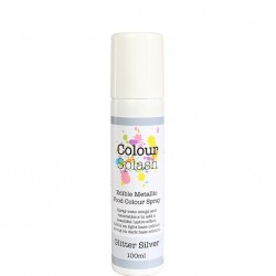 Metallic Food Spray, glitter silver