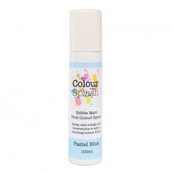 Metallic Food Spray, pastel blue