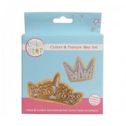Krona, utstickare o mönster