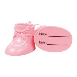 Babyskor, rosa tårtdekoration (plast)