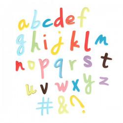 A - Z (gemener - script), utstickare m ejector