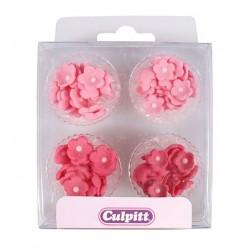 Blommor - Mini, ätbara dekorationer (pink)