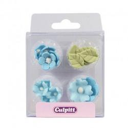Blå, ätbara blommor (Cu)