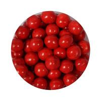 BF 20190730 - Röda sockerpärlor, 10 mm (Shiny Red)