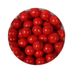 Röda sockerpärlor, 10 mm (Shiny Red)