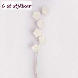 Filler-flowers på stjälk, 6 st