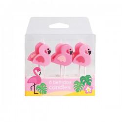 Flamingo, 6 st tårtljus