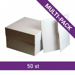 Tårtkartong, ca 15 x 15 x 12,5 cm (50-pack)