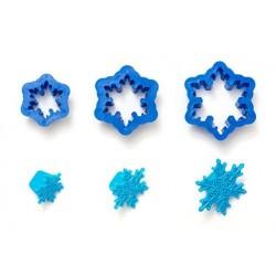 Snöflinga m mönster, 3 st