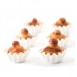 12 st muffinsformar, vita