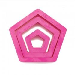 Pentagonutstickare, 3 st (Decora)