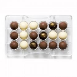 Halvklot (18 st), chokladform i hård plast