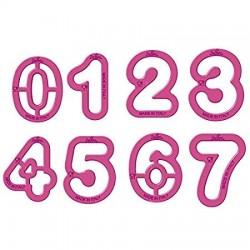 Siffrorna 0- 9, utstickare (De)