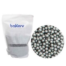 Silver sockerpärlor, 4 mm (1 kg)
