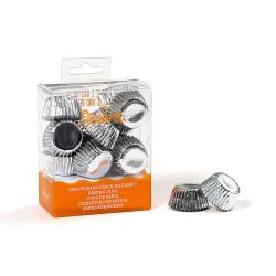 Silver, 180 st små muffinsformar