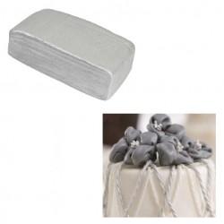 Silver sockerpasta, 100g (Decora)