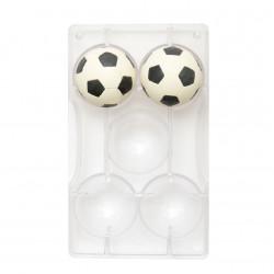 Fotboll, chokladform i hård plast