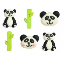 Panda, ätbara dekorationer
